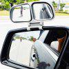 Car Rearview Blind Spot Mirror Double Side Mirrors 360 degrees Wide Angle Adjustable Rear View Accessories - WHITE