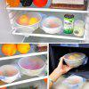 Silicone Reusable Preservative Film for Food Storage 4pcs - TRANSPARENT
