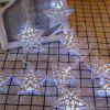 Wrought Iron Five-pointed Star Battery Style String Light for Christmas Decoration - WARM WHITE
