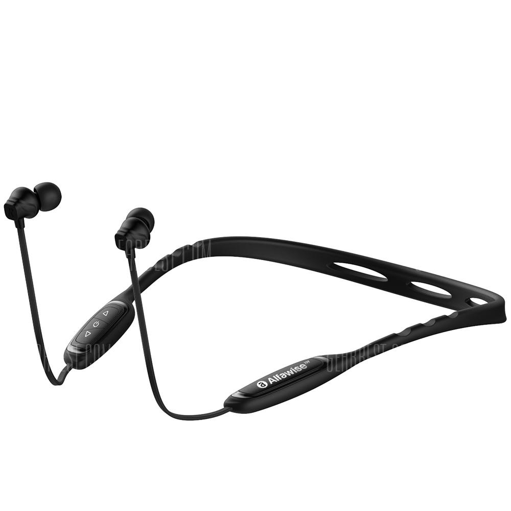 Alfawise W1 Neckband Bluetooth Sports Headphones - BLACK