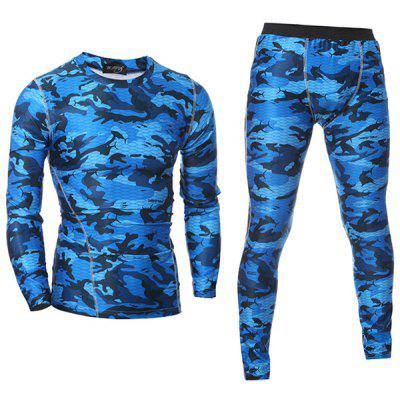 Men's Quick-drying Training Clothes Long-sleeved Tracksuit