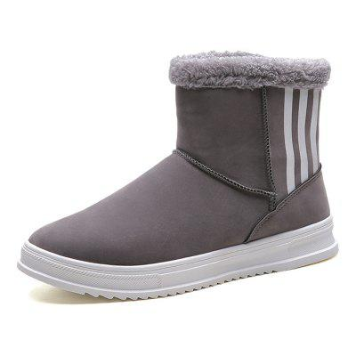 Winter Snow Boots Men Brushed Shoes