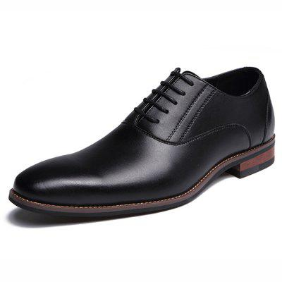 Man Formal Shoes Pointed Business Lace Up