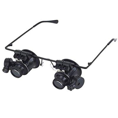 9892A - II Double Glasses with LED Lights Maintenance 20 Times Wearing Magnifier