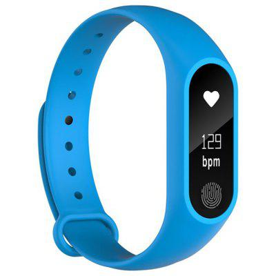 M2 Plus Smart Bluetooth Sports Waterproof Heart Rate Blood Pressure Monitoring Health Tracking Bracelet