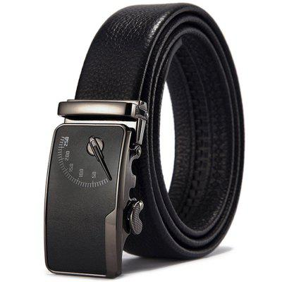 Double-sided Leather Automatic Buckle Belt for Men