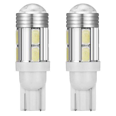 T10 - 5630 - 10 SMD with Heat Dissipation Aluminum with Lens Highlighting LED License Plate Light 2pcs