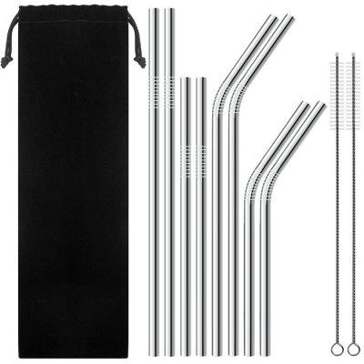 304 Stainless Steel Coffee Milk Tea Drink Straws Set