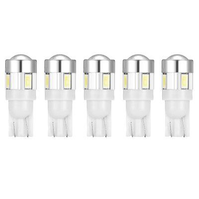T10 - 5630 6 SMD con lámpara LED super brillante de disipación de calor y lente de 5 LED