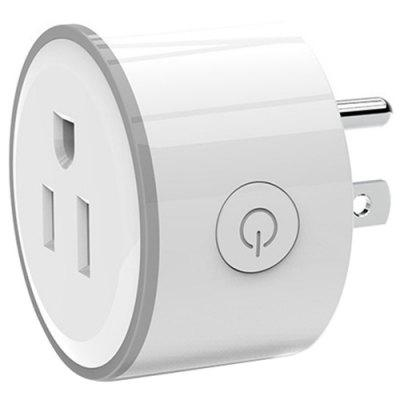 Smart US Plug Mini WiFi Socket Timer Outlet Afstandsbediening met RGB-licht