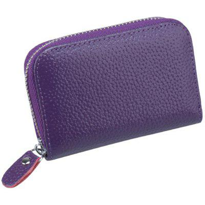 Multifunctional Top Layer Genuine Leather Card Coin Purse