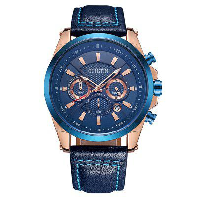 OCHSTIN 6065 Men Business Quartz Watch Leisure Multifunctional Waterproof