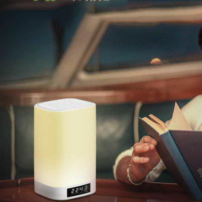 Q6 Caixa de som Bluetooth Speaker 4.2 colorida com alarme de luz do toque