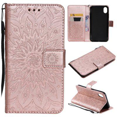 PU Sun Flower 3D Pattern Mobile Phone Case for iPhone XR