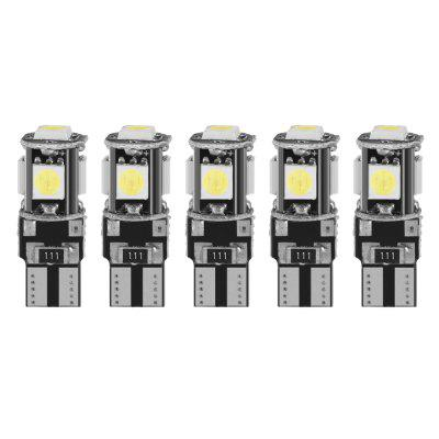 T10 SMD 5050 Width Lamp LED Door Light License Plate Lamps Reading Lights 5pcs