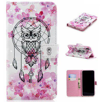Owl PU Leather 3D Phone Case for iPhone XR