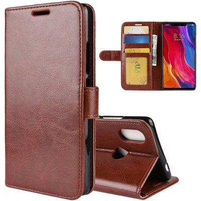 Imitation Leather Phone Cover Case for Xiaomi Mi 8 SE