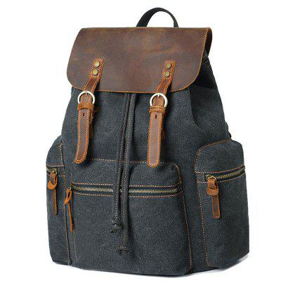 Men's Large Capacity USB Canvas Backpack