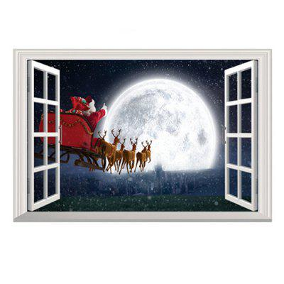 Christmas 3D Sticker Wallpaper PVC Room Decoration Decal