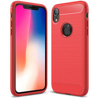 Carbon Fiber TPU Back Protective Case for iPhone XS Max