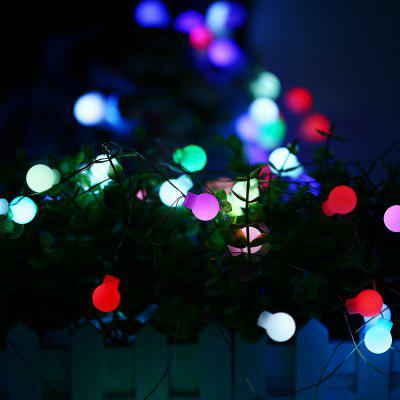 Gearbest 10m 50 LED Colorful USB Interface High Brightness Slow Flash Ball String Light for Decoration - WHITE
