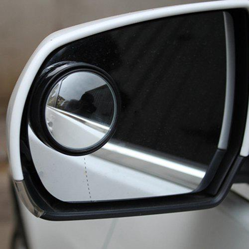 50mm Car Wide Angle Rear View Blind Spot Mirror with 360 Degrees Adjustable - BLACK