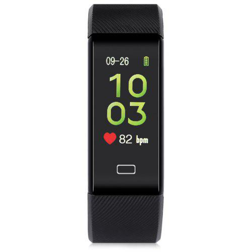 Gearbest Alfawise B7 Pro Fitness Tracker with 7/24h Real-time Heart Rate Monitor - BLACK 0.96 inch Large Color Display Sleep Monitoring IP67 Waterproof Activity Tracker Bluetooth Remote Shutter