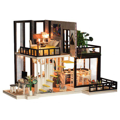 K - 033 DIY Cabin Forest Handmade Doll House Creative Villa Architectural  Model Assembled Toy
