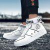 Men High Shoes Fashion Casual - WHITE