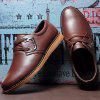 Man Casual Leather Shoes English Style - DEEP BROWN