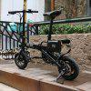 CityMantiS CMS - F12 Outdoor 6Ah Battery Smart Folding Electric Bike Moped Bicycle - BLACK
