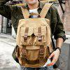 Canvas Outdoor Big Capacity Shoulders Bag Backpack - LIGHT KHAKI