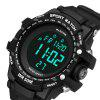 PANARS 8013 Outdoor Sports Electronic Watch - BLACK