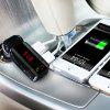 BC06S Car Bluetooth Hands-free Dual USB Car Charger FM Transmitter - BLACK