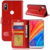 Flip Over Leather Phone Cover Case for Xiaomi Mi Mix 2S - RED