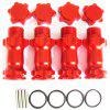 Aluminum Wheel Hex Hub Extension Adapter for RC Hobby Car 4pcs - RED