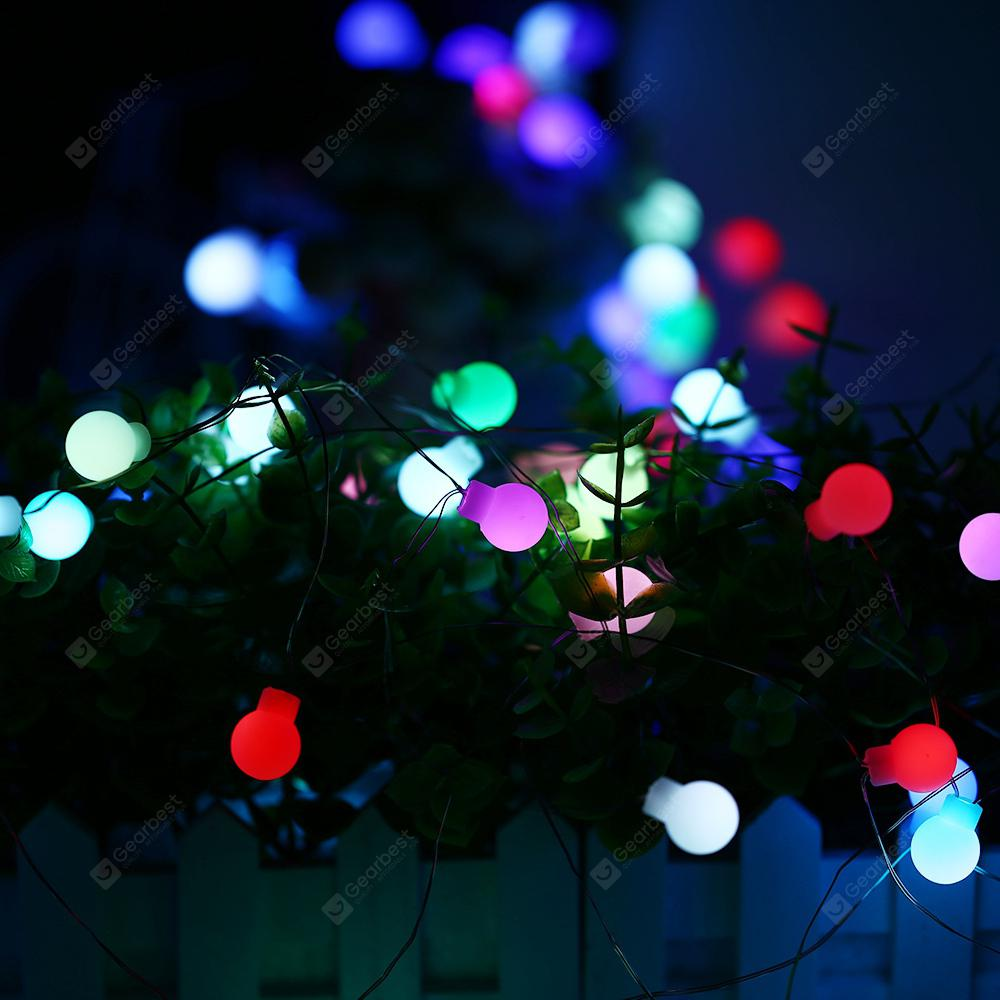 10m 50 LED Färgrikt USB-gränssnitt Hög ljusstyrka Slim Flash Ball String Light för dekoration - WHITE