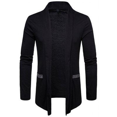 Men Jacket Cardigan Coat Turn-down Collar