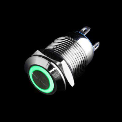 16MM 12V Metal Button Switch with Lock and Light