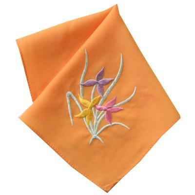 Polyester Silk-like Embroidered Handkerchief for Cleaning