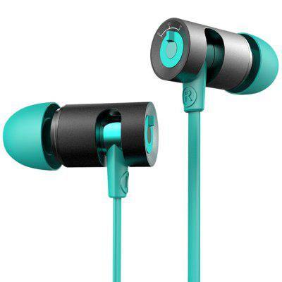 DZAT DR - 10 Super Bass Music HiFi Earphone In-ear Drive-by-wire Earbuds with Mic