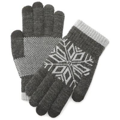 Knitted Wool Touch Screen Gloves for Men