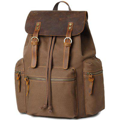 Large Capacity USB Simple Backpack