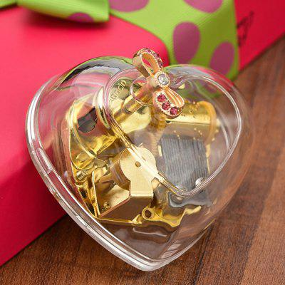 Acrylic Transparent Chocolate Heart Music Box