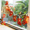 LED 3M Christmas Sock String Light for Outdoor Decoration - RED