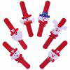 12 Cute Christmas Wristbands for Children - RED