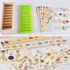 Wooden Knowledge Classification Box Educational Puzzle Toy - MULTI