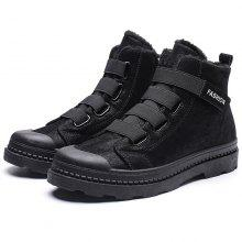 Men's Shoes 2019 Warm Men Mart Boots Couples Winter Casual Rubber Snow Boots With Fur Leather High Top Ankle Boots Men Leisure Shoes Basic Boots