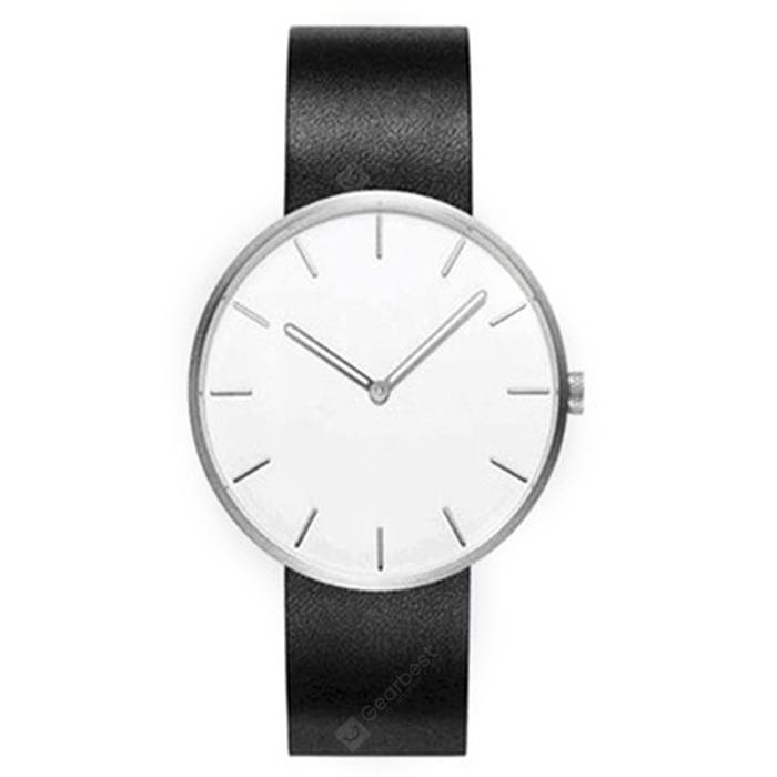 Xiaomi youpin TwentySeventeen Light and Fashionable Waterproof Luminous Quartz Watch - NATURAL BLACK