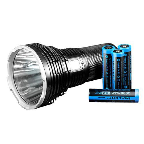 IMALENT RT70 Super Bright USB Magnetic Charging LED Flashlight - BLACK
